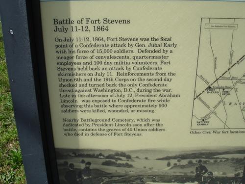 Ft. Stevens monuments